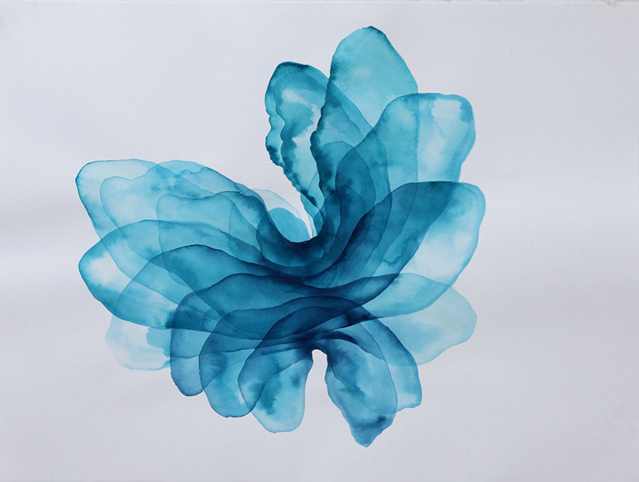 Flux, Acrylic Ink on Paper by Melanie Moore